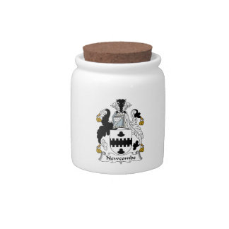 Newcombe Family Crest Candy Jars