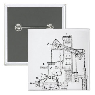 Newcomen's Atmospheric Engine Pinback Button
