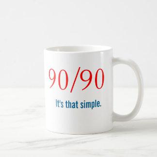 Newcomer 90/90 Slogan - AA NA Classic White Coffee Mug