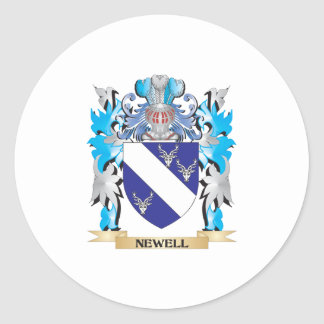 Newell Coat of Arms - Family Crest Classic Round Sticker