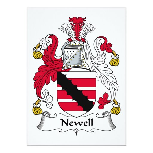"Newell Family Crest 5"" X 7"" Invitation Card"