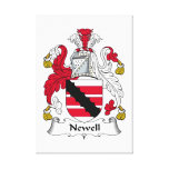 Newell Family Crest Gallery Wrapped Canvas
