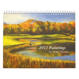 Newest 2012 calendar paintins