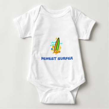 Toddler & Baby themed Newest Surfer Baby Bodysuit