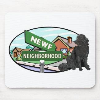 Newf Neighborhood Mouse Pad