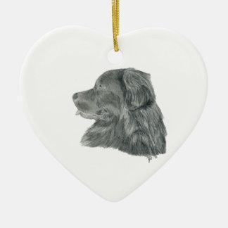 Newf portrait ceramic ornament