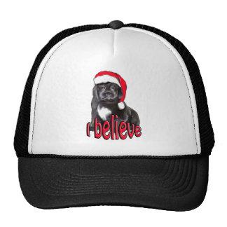 Newf puppy Christmas Trucker Hat