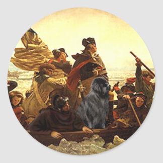 Newfie 1 - Washington Crossing..... Classic Round Sticker