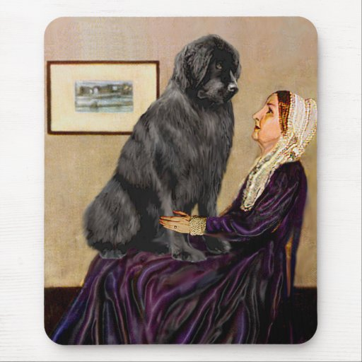 Newfie 1 - Whistler's Mother Mouse Pad