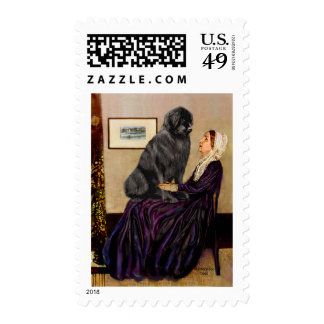 Newfie 1 - Whistler's Mother Postage Stamp