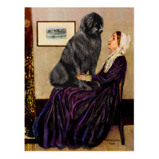 Newfie 1 - Whistler's Mother Postcard