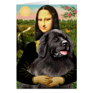 Newfie 2 - Mona Lisa Greeting Card