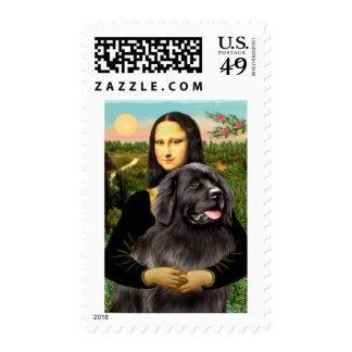Newfie 2 - Mona Lisa Postage Stamp