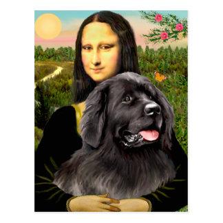 Newfie 2 - Mona Lisa Post Card