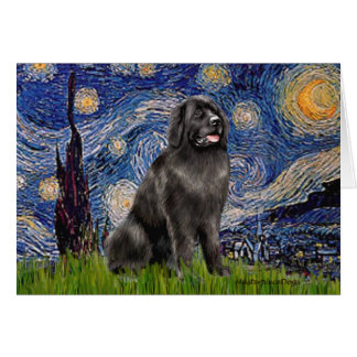 Newfie 2 - Starry Night Card