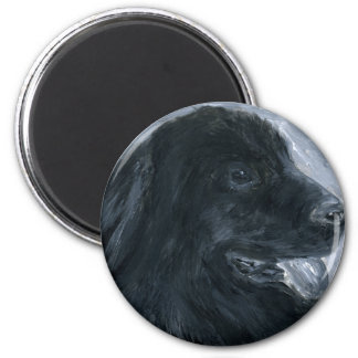 Newfie acrylic painting magnet