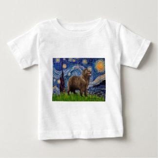 Newfie (brown2) - Starry Night Baby T-Shirt
