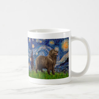 Newfie (brown2) - Starry Night Coffee Mug
