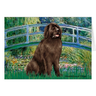 Newfie (brown) - Bridge Card