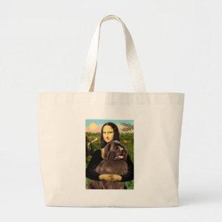 Newfie (brown) - Mona Lisa Tote Bag