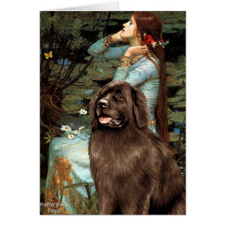Newfie (brown) - Ophelia Seated Card