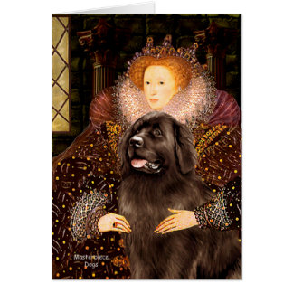 Newfie (brown) - Queen Card