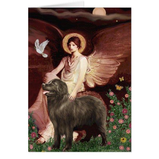 Newfie (brown) - Seated Angel Card