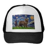 Newfie (brown) - Starry Night Mesh Hats