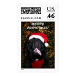Newfie Christmas Dog Postage