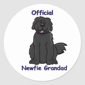 newfie grandad round sticker