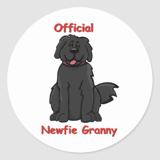 newfie granny classic round sticker