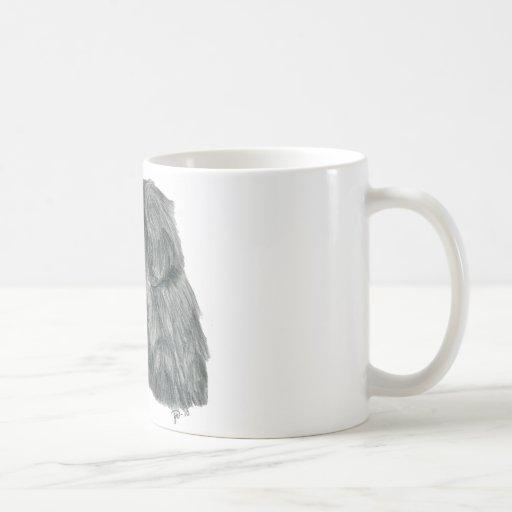 Newfie graphite drawing coffee mug