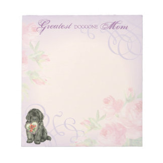 Newfie Heart Mom Note Pad