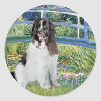 Newfie Landseer3 - Bridge Classic Round Sticker