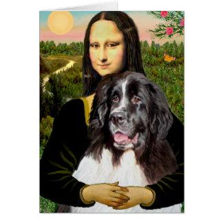 Newfie (Landseer3) - Mona Lisa Greeting Cards