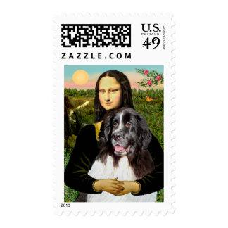Newfie (Landseer3) - Mona Lisa Postage