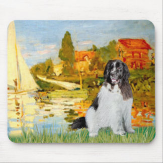 Newfie Landseer 3 - Sailboats 2 Mouse Pad