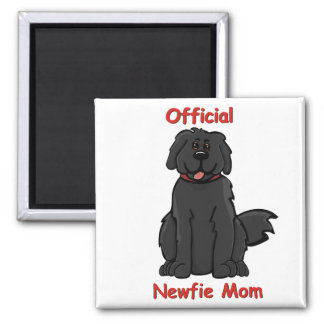 Newfie Mom 2 Inch Square Magnet