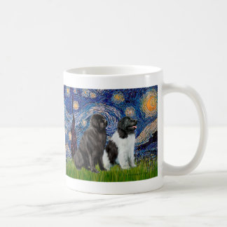Newfie Pair (B1+L) - Starry Night Coffee Mug