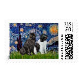Newfie Pair (B1+L) - Starry Night Postage