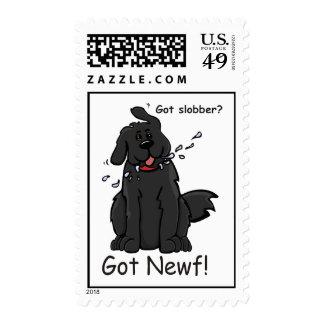 Newfie Slobber Postage Stamp