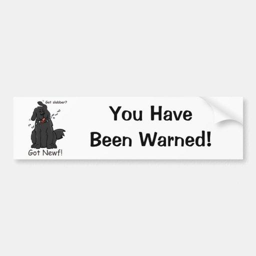 Newfie Slobber Warning Sticker Bumper Stickers