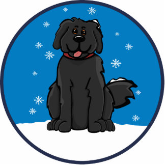 newfie snow round ornament photo cut outs