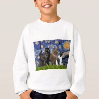 Newfie Trio - Starry Night Sweatshirt