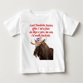 NEWFIE WALK BACKWARDS.png Baby T-Shirt