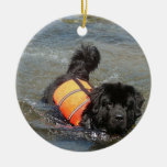 Newfie Water Rescue  Ornament