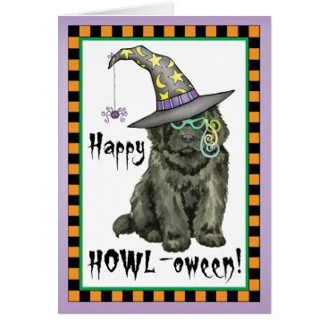 Halloween Themed Newfie Witch Card