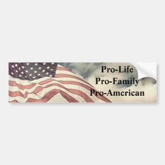 newflag2, Favorable-LifePro-FamilyPro-Americano Etiqueta De Parachoque