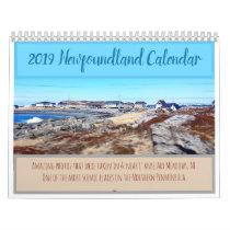 Newfoundland 2019 Calendar