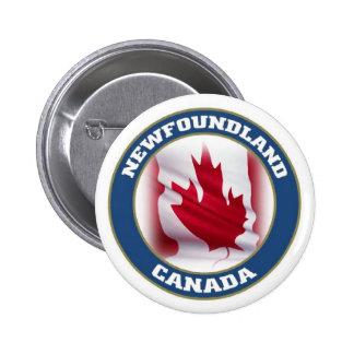 Newfoundland 2 Inch Round Button
